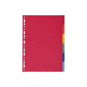 Pregradni karton A4 6 boja
