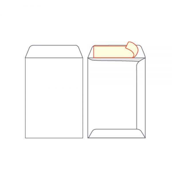 Koverat 16 x 23 beli samolepljivi