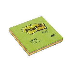 Post it 76 x 76 kocka pastelni 100 lista